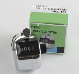 Wholesale Hand Counter Clicker - Free shipping 480pc lot Metalic 4 Digits Number Clicker Hand Tally Counter for Golf