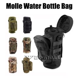 Wholesale Nylon Carrier Bags - Militray Tactical Molle Zipper Water Bottle Hydration Pouch Bag Carrier for Hiking