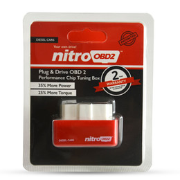 universeller schlüsseltransponder Rabatt Neue Ankunft NitroOBD2 Diesel Auto Chip Tuning Box Stecker und Stick OBD2 Chip Tuning Box Mehr Leistung / Mehr Drehmoment