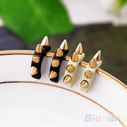 Wholesale Spiked Earrings - U type Retro Pin Piercing Earrings Rock Punk Screw Spike Rivet Earring Ear Studs for Women Men 00GG