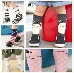 Wholesale Baby Girl Stockings Tights - 2015 Cute Baby Stocking Korean children cotton socks girls Antiskid Sock Tights Pantyhose kid's Knee High Socks Cartoon kid socks 5722