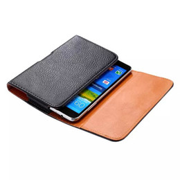 Wholesale Mega Covers - Holster Holder Belt Clip Luxury Carrying Leather Pouch Cover Litchi Leechee Pattern Case For Samsung Galaxy Mega 6.3 I9200 Black Skin Cover