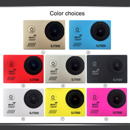 Wholesale Wifi Outdoor Web Cameras - 2015 New SJ7000 Outdoor Sports Action Video Camera 30M Waterproof Wifi Web Mini Camcorder Car DVR 14 Megapixels FHD 1080P 2.0 inch