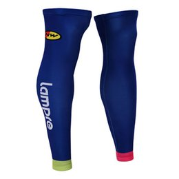 Wholesale Lampre Cycling - 2015 LAMPRE MERIDA PRO TEAM BLUE CYCLING LEG WARMER SPANDEX COOLMAX LYCRA UV PROTECTION SIZE:S-XXL