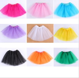 Wholesale dancing skirt hot - Hot in America and Europe children girls' Tutu dresses Skirts kids dance dancing ballet Bust skirt 3 layer net yarn party clothes gifts