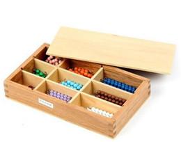 materiais montessori atacado Desconto 2016 novo Atacado-Profissional Materiais de Matemática Montessori -Cores Cadeias de Contas de AprendizagemEducacional Crianças Brinquedos letras de madera