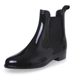 Stivali di gomma Impermeabile Trendy Jelly Donne Stivaletti da pioggia Banda elastica Tinta unita Scarpe da donna da