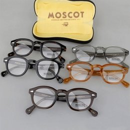 Wholesale Johnny Depp Eyewear - Brand 2018 Brand design Moscot lemtosh eyewear johnny depp glasses top Quality brand round eyeglasses frame with Arrow Rivet