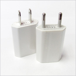 Wholesale Iphone Mini Power - 5V 1000ma 1A Universal EU Plug Slim USB Wall Charger AC Power Adapter for iphone 4 4S 5 5G ipad mini ipad2 USB Chargers cell phone MQ200