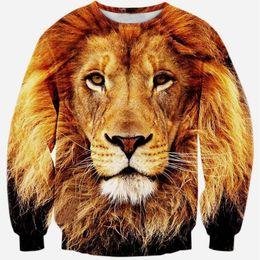Wholesale Tiger 3d Sweatshirt Men - Alisister 2015 new fashion men women's Innovative Animals tiger hoodie long sleeve printed mens 3d sweatshirts sudaderas clothes