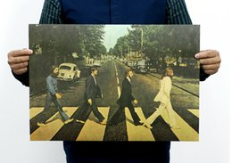 "Wholesale Beatles Decals - Fashion Home Decoration Vintage Beatles Poster Painting &Vintage Style Retro Paper Poster Beatles Wall Decals 20""X15""(51x35cm)"