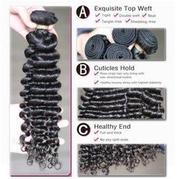 Wholesale Cheap Malaysian Deep Curly - 7A Brazilian Deep Wave Virgin Hair 100% Brazilian Human Hair Weave 3Bundle Cheap Brazilian Curly Virgin Hair Brazilian Deep Wave