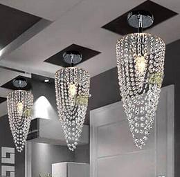 Wholesale Crystal Suspension Light - New Rushed Lamparas Suspension Luminaire Led 1-light Chrome Modern Crystal Chandelier Lighting D17*h45cm 110v-256v Transparent Color