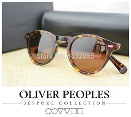 Wholesale Oliver People - Wholesale-NEW 2015 Vintage mens and womens sunglasses oliver peoples sunglasses ov5186 polarized sunglasses retro designer men brand glass