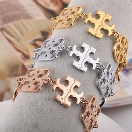 Wholesale Cufflinks Letters - New arrival Brass material love punk opened hollow round shape for women braceet in 17.5cm Cufflink Send Women jewelry gift PS6242
