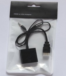Wholesale Xbox Hdmi Vga Cable - HDMI to VGA with 3.5mm Jack Audio Cable Video Converter Adapter For Xbox 360 PS3 PC