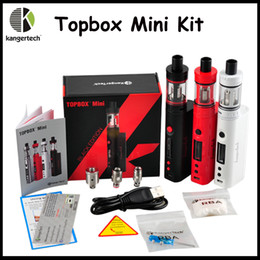 Wholesale Refills High Quality - High Quality Kanger Topbox Mini 75W Kit Subox Mini Pro Starter Kit Top Refilling Tank&75Watt TC Mod Newest KangerTech Beginner Kit