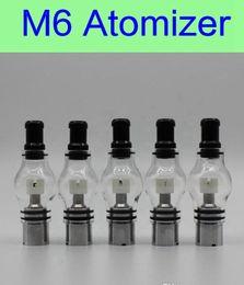 Wholesale Ego Smoking - 2015 Glass Wax M6 Atomizer Glass Tank Clearomizer 4.0ml Vaporizer Solid Smoke Oil Cartomizer For eGo EVOD Vision Battery