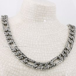 """Wholesale Solid Silver Sterling Heart Necklace - 18"""" ~ 36"""" 316L Stainless Steel Solid Mens Necklace Chain 5A021N Free Shipping Customize length Unique Gift"""