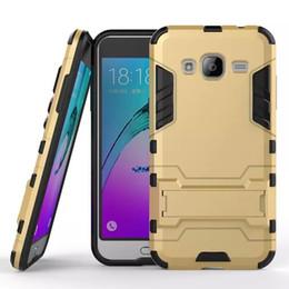 Wholesale Droid Pc - Armor Hybrid Case For Samsung Galaxy J3 Moto X Force Droid Turbo 2 E3 Huawei Honor V9 Play 5X Hard PC TPU Iron Man Stand Skin Cover 200pcs