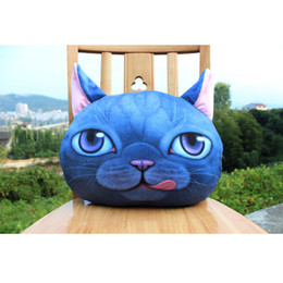 Wholesale Knitted Seat Cushion - Outdoor Chair Cushions Pillow Mr. Meow Cat Shape 3D Digital Printing Personality Car Seat Cushion Creative Cover Soft Cute Seat Cushion