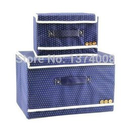 Wholesale Hot Boxs - 2014 New Free Shipping Tuba Trumpet Blue 2Pcs Bag Covered Underwear Storage Box Specials Clothes Cosmetic Boxs HOT