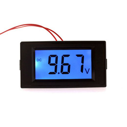 Wholesale Lcd Dc Voltmeter Panel - Car Motorcycle Voltmeter DC 7.5-19.99V Volt Voltage Panel Meter Car Monitors With Digital LCD Display Blue Backlight