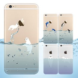 Wholesale Tpu Animals - 0.3mm Ocean Animals Dolphin TPU Clear Transparent Case For iPhone 5 5S 6 4.7 Plus 5.5 iPhone6 Samsung Galaxy S6