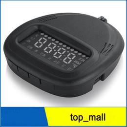 Wholesale Auto Alarm Gps - A1 Universal Auto Car HUD System GPS Head Up Display HUD Projector Over Speed Alarm Warning Plug& Play Drop 002983