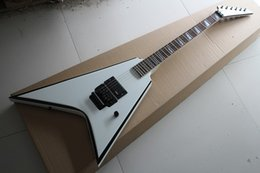 Wholesale White Rocker - The Wholesale- 2015 Factory Customized New Brand Flying V Shaped Electric Guitar with Double Rocker Bridge