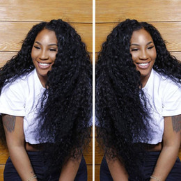 Wholesale Human Hair Super Long Wig - Super cheap virgin brazilian human hair wigs curly full lace wigs&front lace wigs 130%density with baby hair for black woman