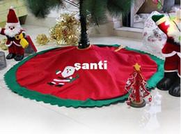 2019 skirting decorazione 90cm Babbo Natale Albero gonna albero di natale gonna albero di natale forniture natalizie decorazioni sconti skirting decorazione