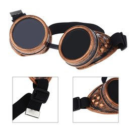 Wholesale Steam Punk Goggles Glasses - Steampunk Safety Goggles Steam Punk Windproof Vintage Welding Gothic Cosplay Lenses Protective Glasses order<$18no track
