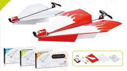 Wholesale Electric Throws - Wholesale-Hot Sale Power up electric paper plane airplane conversion kit fashion educational toys,outdoor fun toy throwing DIY paper plane