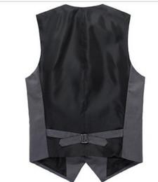 2019 colete de pescoço para homem Outono-2015 de Moda de Nova Beckham Vest colete Com Decote Em V dos homens Estilo Europeu Vestido de Negócios Terno Colete Homens Gilet Colete Moda Coletes colete de pescoço para homem barato