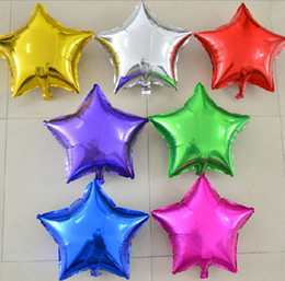 Wholesale Balloons Metallic 18 - hight quality 50pcs lot star shape Metallic Color 18 inch foil balloons for party wedding decoration free shipping