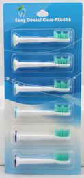 Wholesale Electric Toothbrush Dual - Wholesale-High Quality dual clean 600pcs Lot(1pack=6pcs) PX6016 Compatible HX6013 HX6011 Electric Toothbrush Heads Standard
