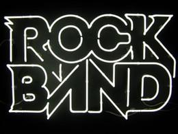 Bandes de signe au néon en Ligne-Rock Band Néon Signe En Verre Véritable Tube Magasin Magasin Publicité Publicité Décoration Art Cadeau Affichage En Métal Cadre Taille 24''X20 ''