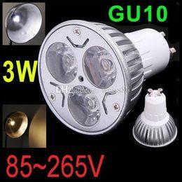Canada 3W CREE GU10 LED Spot Ampoule Lampe Dimmable GU10 Spotlight 85-265V Downlight Plafond Home Room Éclairage Livraison Gratuite CE RoHs FCC Offre