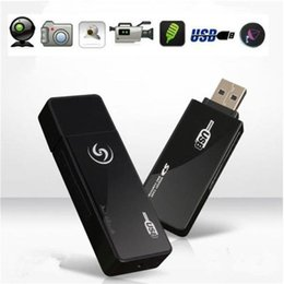 Wholesale Flash Drivers - HD 1280*960 Mini DV Spy Camera U9 Spy USB Disk USB Flash Driver Camera Security Camcorder With Motion Detection