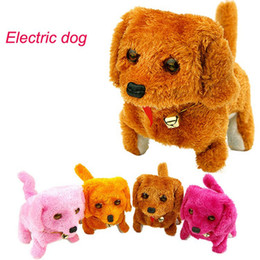 Wholesale Barking Toy Dog - Electronic Dogs Kids Children Interactive Electronic Pets Doll Plush Neck Bell Walking Barking Electronic Dog Toy Christmas Gift OOA3603