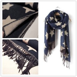 Wholesale Wool Shawls Sale - HOT Sale!!Fashion NEW style pashmina scarves for women tassel scarf Pashmina Stars scarf pashmina shawl LA128-8