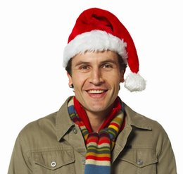 Wholesale Santa Hat Beanie - Xmas Hat Fur Santa Claus Hats Adult Wizard Cap Funky Hand Christmas Beanies Hats Free Shipping