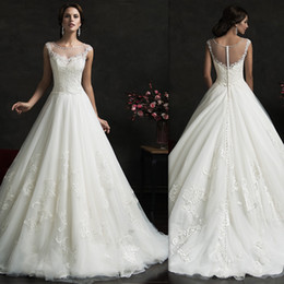 Wholesale Sweetheart Princess Wedding Dress China - Bridal Dresses China 2016 Sheer A-line Ivory Tulle Corset Wedding Gowns Sweetheart Discount Designer Free Custom Made Amelia Sposa Dress