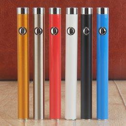Wholesale Led Wax Atomizer - Colorful O Pen CE3 Vape Battery 280mAh E-Cig 510 Thread LED Slim Battery E Cigarettes For Wax Oil Cartridge Ce3 Atomizer with Button