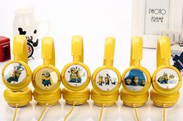 Wholesale Despicable Dhl - 3.5 mm mic headset headphones cartoon 3 d despicable me servants samsung MP3 MP4 headphones for iPhone free shipping DHL