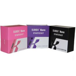 Kanger k tank en Ligne-Gros-100% Véritable Kanger Subbox Nano E Kit de cigarettes avec K BOX 50W Mod Subox Nano original OCC Sub Tank Stater Kit