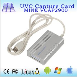 Wholesale Video Capture Box - High quality and Convenient USB 2.0 Video capture box VCAP2900 video capture hdmi input Without driver Windows 98 2000 XP win7 win8