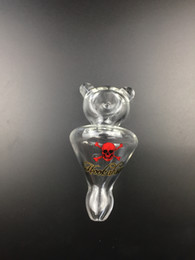 Wholesale Glass Bearings - Helix Smoke Glass Pipe Gas screw Bear Gas vortex hookah pipes-Clear