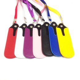 Wholesale Ecigarette Lanyards - ECigarette Leather Lanyard Ego Ring Necklace Carrying Cases, Electronic Cigarette Lanyard ePacket